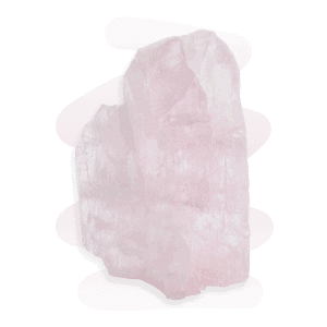 A prismatic light pink Kunzite crystal with vertical striations and glassy texture.