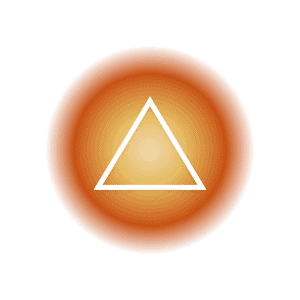 The fire elemental symbol within a yellow and orange circle, featuring a triangle.