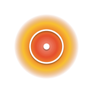 The Sun planetary glyph within an orange and yellow circle.