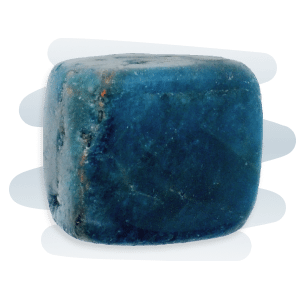 Blue Apatite is a glassy, transparent to opaque dark blue-green stone.