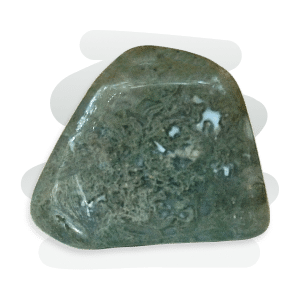 Moss Agate is a transparent to opaque variety of chalcedony with dendrite inclusions within a clear or milky quartz.