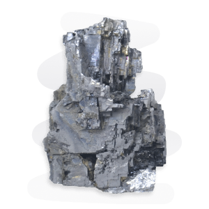 Galena is a a silvery metallic that crystallizes in octahedral or cubic form.