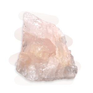 Morganite is a translucent to transparent crystal gets its pink colour from trace amounts of manganese.