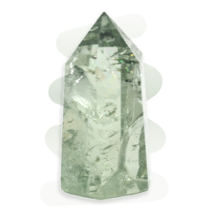 Prasiolite is a pale green variety of quartz. Naturally forming transparent prismatic crystals are extremely rare.